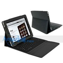 Bluetooth Wireless 76 Keys Keyboard Stand Leather Case For Apple iPad