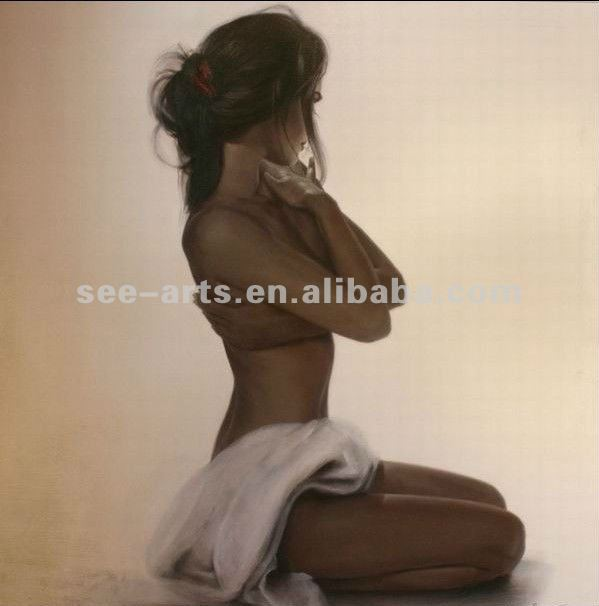 2012Promotional handpainted wall art,beautiful nude girls