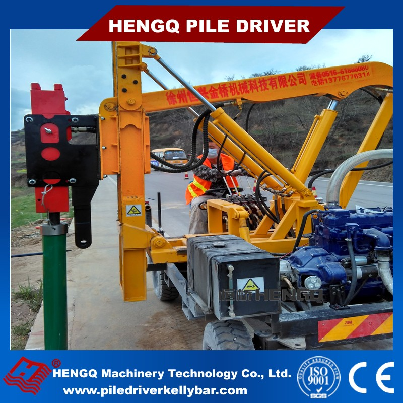 goundrail pile driver hydraulic hammer high efficiency