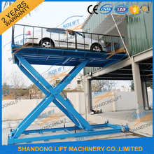 3T 2M Electric hydraulic car scissor lift table garage used car lifting equipment CE price