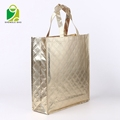 Metallic foils lamination non woven fabric bag tote shopper bags