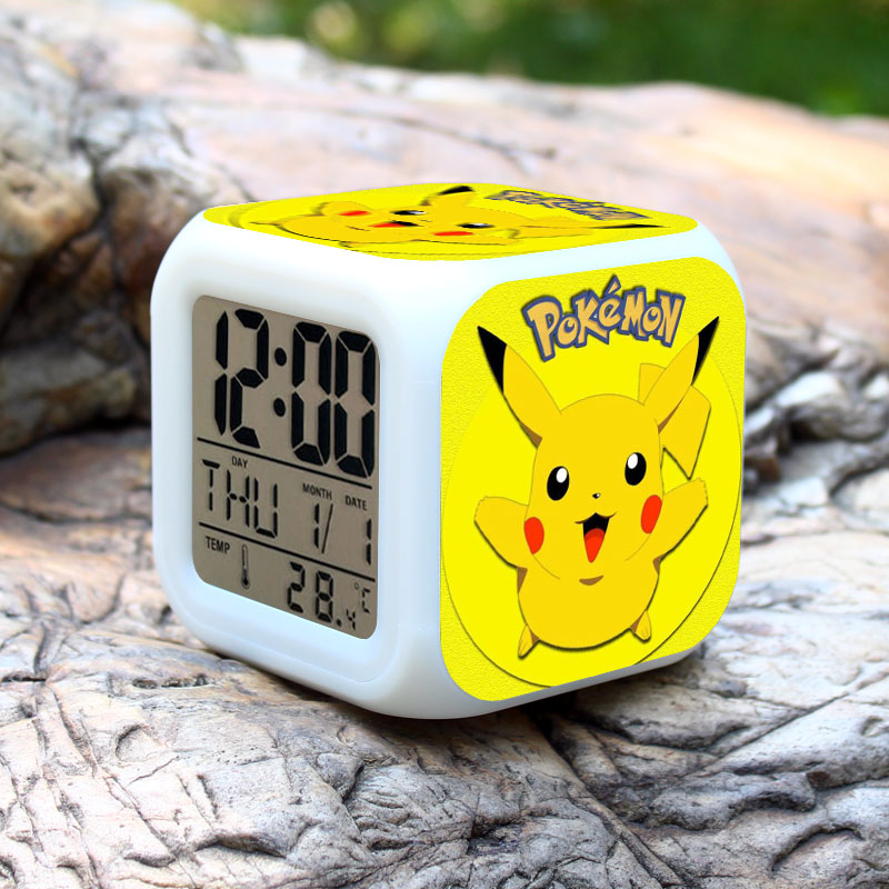 (Promotion) 2017 Hot Pokemon Ball LED Clock, Pikachu Desk Clock, Pokemon Go Alarm Clock with 50 Different Styles