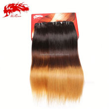 2014 Ali Ali queen Factory Prices Ombre Color Straight Virgin Brazilian Hair Weave Bundles