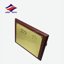 Rectangle shape wooden award plaque with stand
