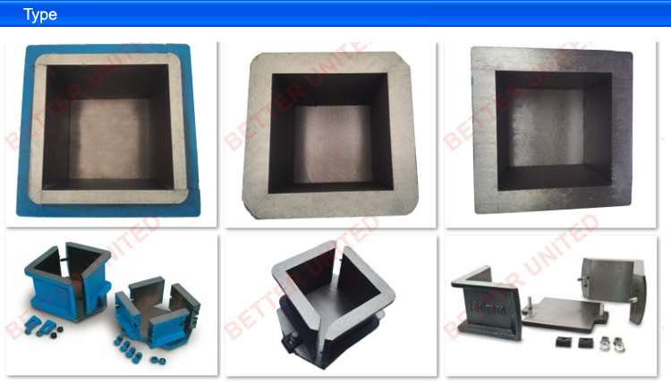 Factory directly supply 40x40x160mm Three Gang Plastic Prism Mould For Cement Mortars