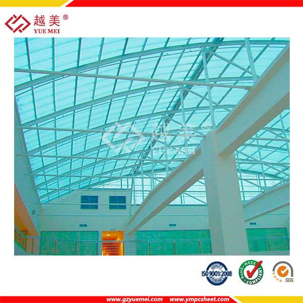 Materia prima de policarbonato de pl stico para techos de for Cobertizo plastico