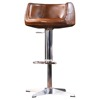 2017 Antique Brown Leather and Hydraulic Bar Chair For Sale
