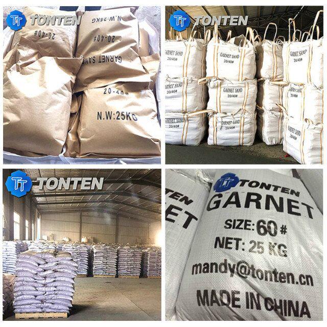 80 mesh Waterjet Cutting Garnet Abrasive, 30/60 Red Garnet Sand Price
