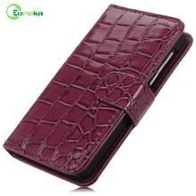 New arrivals custom mobile phone real leather flip case for Blackberry Z10