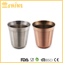 2oz 5.5oz Wholesale Custom Stackable Double Wall Stainless Steel Heat Resistant Espresso Coffee Capsule Cup