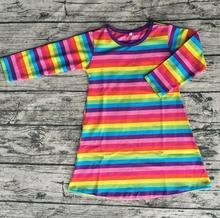 2017 rainbow designs baby dress lastest simple cotton design child girls party dresses pictures beautiful teenage girls dress