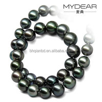 2016 new design 8-11mm AAAA Natural Pearl Necklace/ Tahiti Black Seawater Pearl with alloy clasp