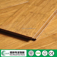 Carbonized color Valinge Unilin Click Strand Woven Bamboo Flooring