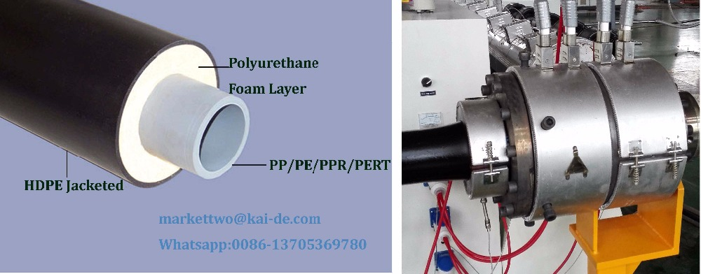 Polyurethane foam Insulation PPR inside Pipe Production Machine
