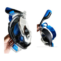 180 Anti Fog Snorkel Mask Full Face Easybreathing Scuba Diving Equipment