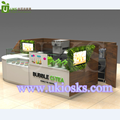 Popular commercial fruit juice bar kiosk and bubble tea counter design for sale