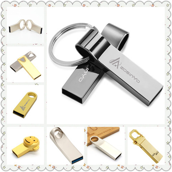 classic custom logo printing metal usb key for promotion