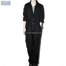 Fashion jumpsuit men overalls workwear Male Elegant Cool long skeeve top Harem Pants Hip-Hop loose Solid black jumpsuits for men