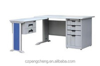 Good Quality Office Table with Wood Top & 2 Drawers Side Desk in Grey /PCB-404-E