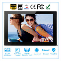 Multifunctional advertisement display digital photo frame 10'' video blue film digital picture frame hd photo video