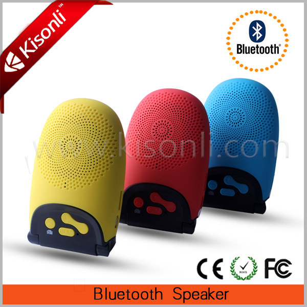Small Outdoor Bluetooth Speaker With LED Bulb,Taking Photo With Fun
