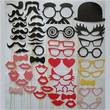 50 Different Styles DIY Photo Booth Props Glasses red lips Wedding Birthday party decorations favor wholesale