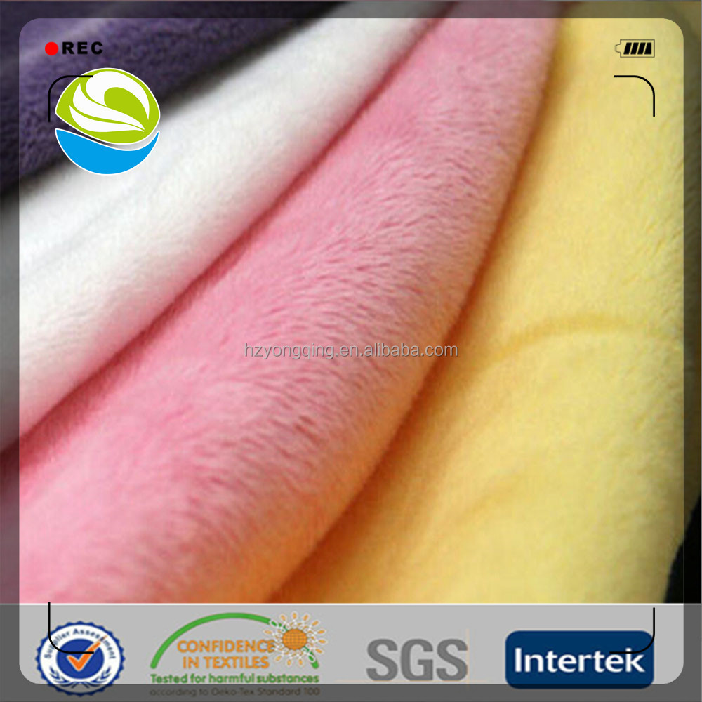 China manufacturer 100 polyester super soft velboa fabric for garment