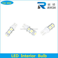 360-degree Error Free 9-SMD-5050 T10 W5W LED Bulbs w/ Built-in Load Resistors For European Cars T10 auto LED indicating light