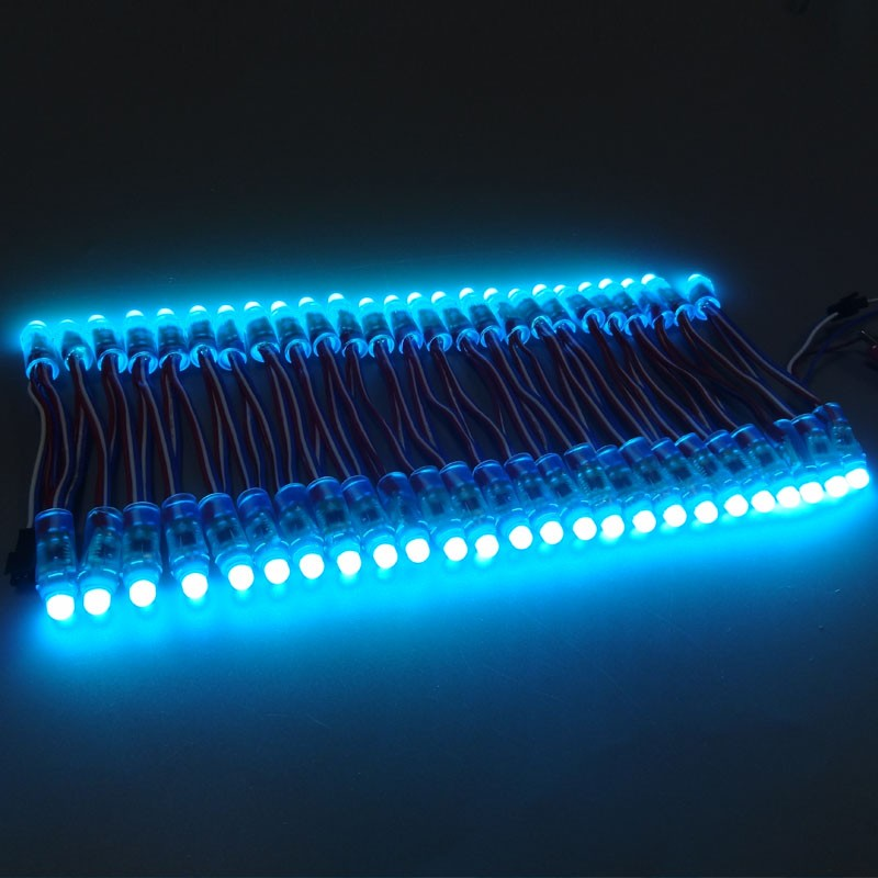 WS2811 IP68 DC5V 12mm bullet type addressable 50nodes a string led full color pixel with cheap price