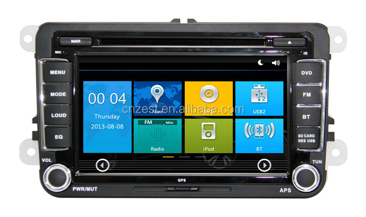 In dash car dvd for Skoda Praktic Roomster dvd player for car with GPS Radio RDS BT 3G TV car dvd player
