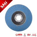 Excellent performance 4.5inch grit 120 T27 coated abrasive zirconia flap disc for stainless steel
