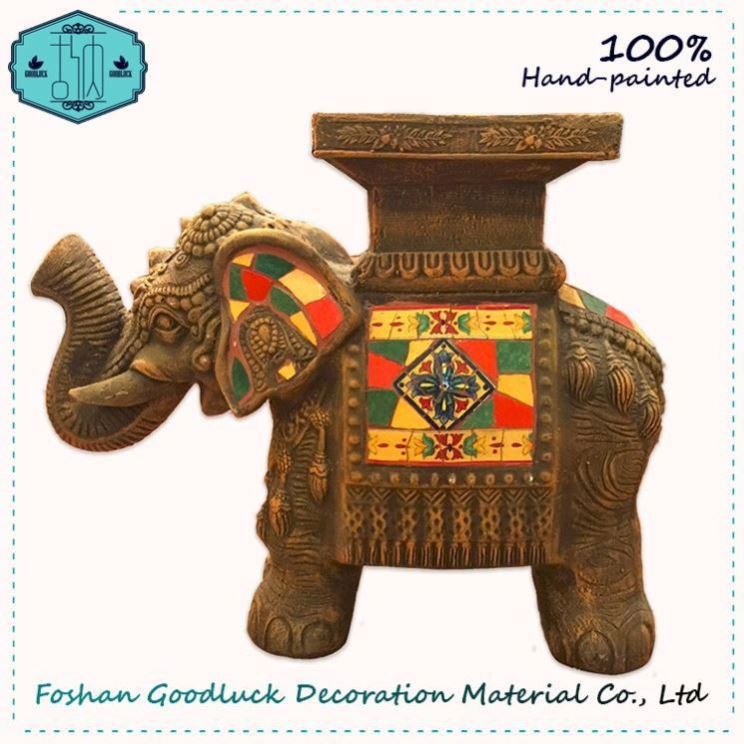 Hand Draw Outdoor Decorative Resin Elephant Arts Gift Mexican Craft Supplies