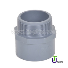 Plastic PVC Hexagon spigot/socket Male screw joints DIN (Solvent Joint)