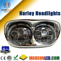Cheaper price! Harley Accessories Dual Headlamp, Motor Projector Twin Headlights LED for Harley Road Glide Headlights