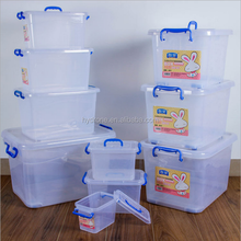 Wholesale plastic bin transparent big storage box for car /clothes /toy