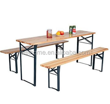 Hotsale Outdoor Solid Wood Foldable Picnic Table And Bench Buy