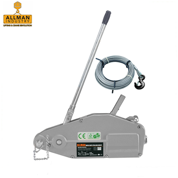 ALLMAN 2017 best selling wire rope hand winch with 20m cable for material handling and lifting