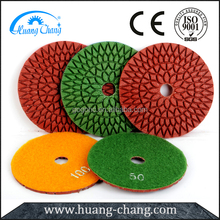 100mm Wet abrasive polishing pad for marble