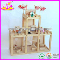 2015 New wooden kids toy castle,popular wooden kids toy castle and hot sale wooden kids toy castle set WJ276719