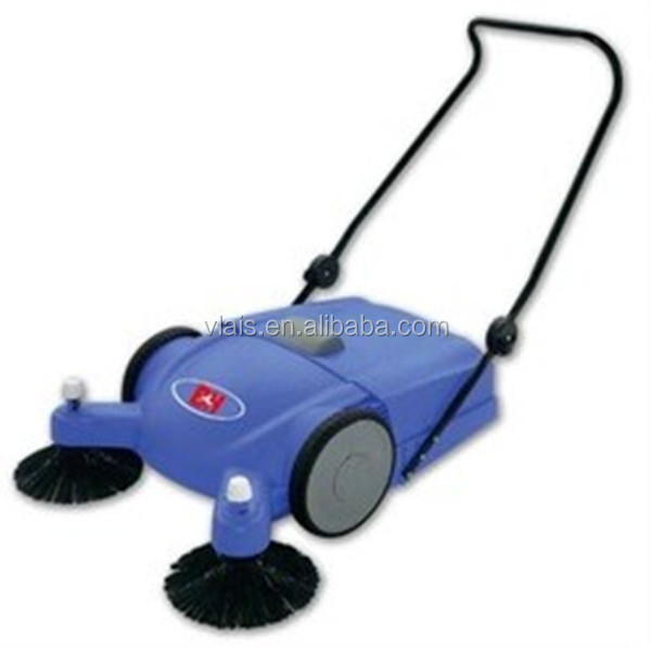 Hand Push Floor Sweeper Double Rotating Brushes 18kg
