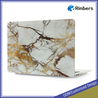 Customized Hot Sale Hard Shell Rubber Coated Marble Texture Case for Macbook Air Pro Retina 11 12 13 15 Laptop Covers