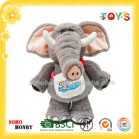 Wholesale stuffed & plush animal toy elephant with bag of summer series