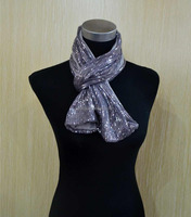 Fashion ladies cotton sequin jersey infinity scarf