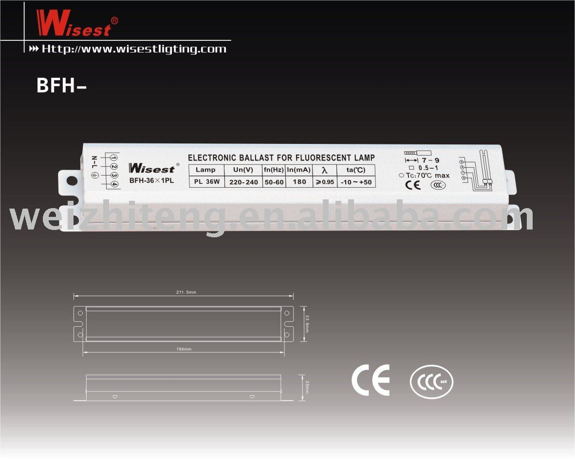 BFH- t5 electronic ballast for fluorescent lamp