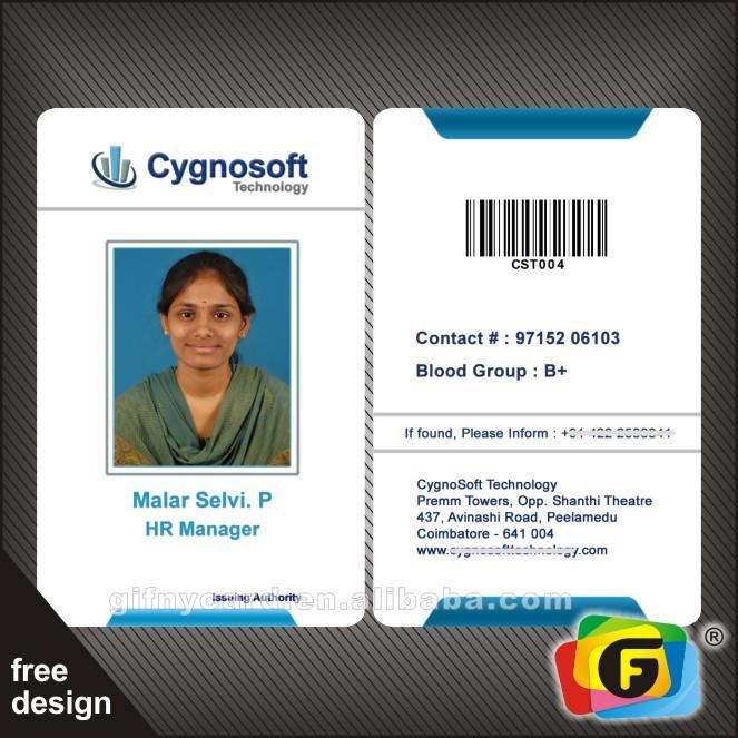 it company id card format