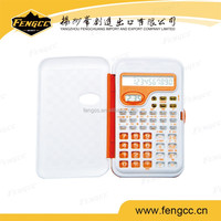 Promotion customized mini office gift pocket calculator of flip cover style