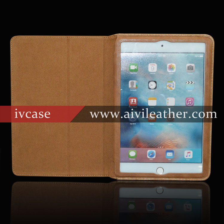 New products 2015 innovative product for ipad mini 4 case , classical genuine cowhide leather case for ipad mini 4