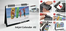 DIY Inkjet printable desktop Photo Calendar (A5 size, RC paper, free software, Do it by yourself!)
