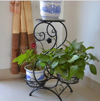 Decoration wrought metal flower pot rack sale