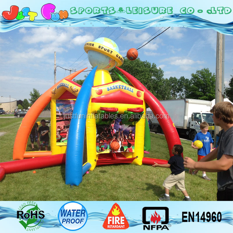 Hot sale inflatable interactive tv sports game for adults